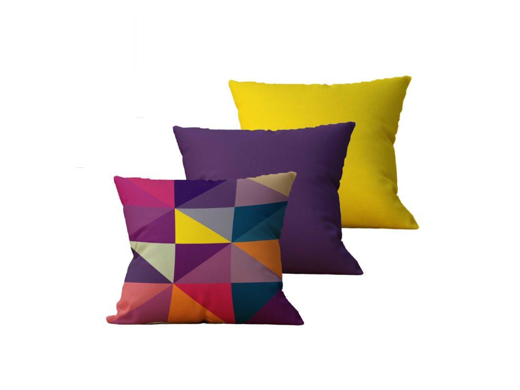 Kit com 3 Almofadas decorativas Geo Color - 45x45 - by #1 AtHome Loja
