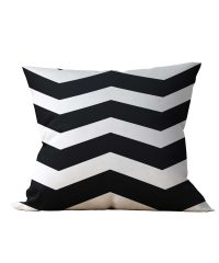 Almofada Decorativa Chevron Black & White - 45x45