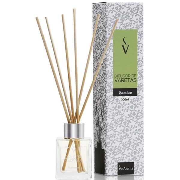 Aromatizador de Ambiente - Difusor de Varetas 100ml Bamboo - Via Aroma - by AtHome Loja