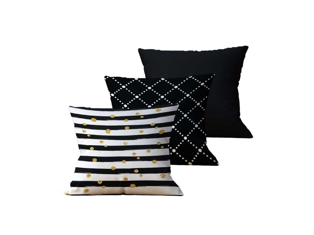 Kit com 3 Almofadas Decorativas Dejeur - 45x45 - by #1 AtHome Loja