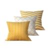 Kit com 3 Almofadas Decorativas Geométrica White & Gold - 45x45 - by #1 AtHome Loja
