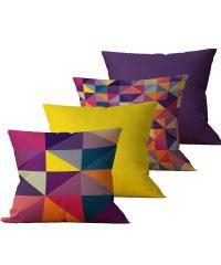 Kit com 4 Almofadas Decorativas Geo Color - 45x45 - by #1 AtHome Loja