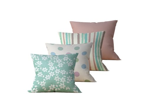 Kit com 4 Almofadas Decorativas Flor Meu Jardim - 45x45 - by #1 AtHome Loja