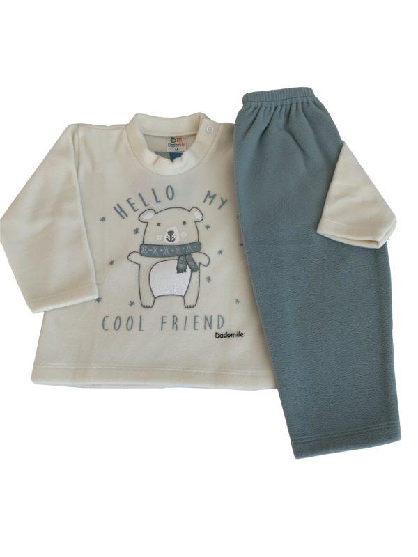 Pijama Infantil Dadomile Hello Friend - MicroSoft PET Thermo