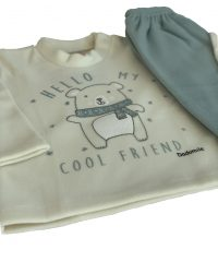 Pijama Infantil Dadomile Hello Friend - MicroSoft PET Thermo