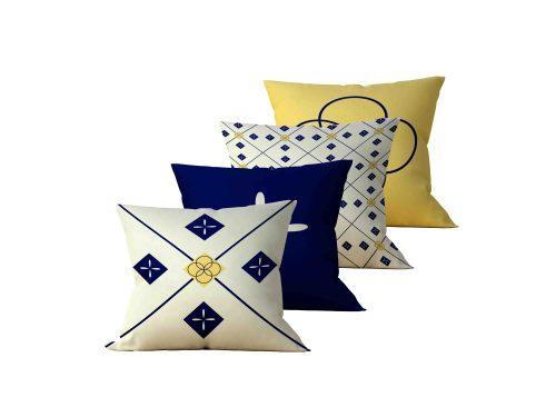 Kit: 4 Almofadas Decorativas Cross - 45x45