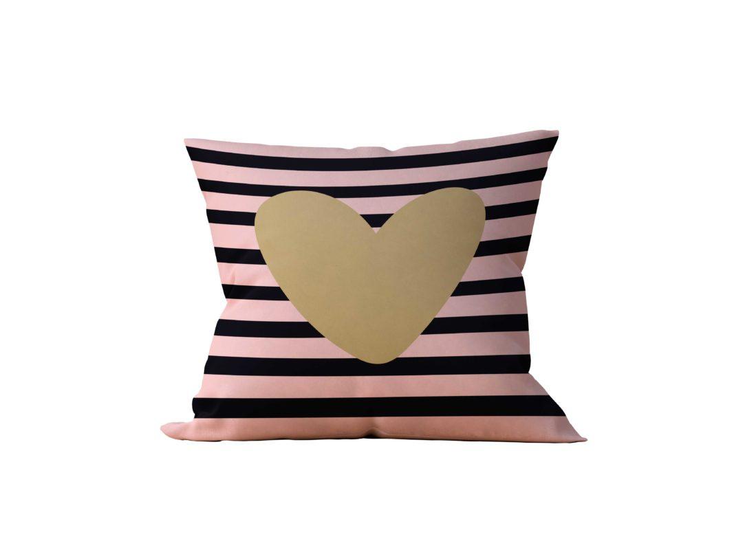Almofada Decorativa Corazion Dourado - 45x45