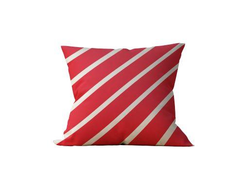 Almofada Decorativa Faixas Vermelhas - 45x45