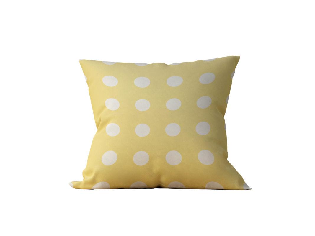 Almofada Decorativa Amarela Coat - 45x45