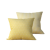 Kit: 2 Almofadas Decorativas Amarela Coat - 45x45