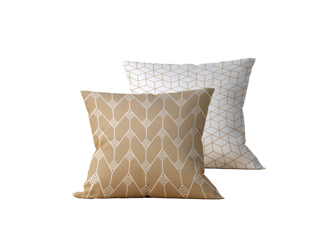 Kit: 2 Almofadas Decorativas Geométrica Gilded - 45x45