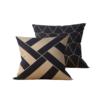 Kit: 2 Almofadas Decorativas Geométrica Black Gilt - 45x45