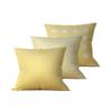 Kit: 3 Almofadas Decorativas Amarela Coat Duo - 45x45