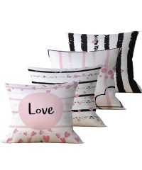 Kit: 4 Almofadas Decorativas Love - 45x45