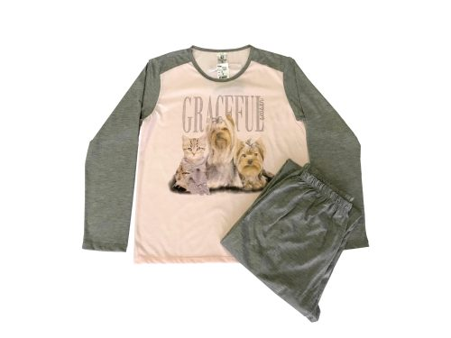 Pijama Feminino Adulto Inverno - Gracefull em Malha Suave PV Confort