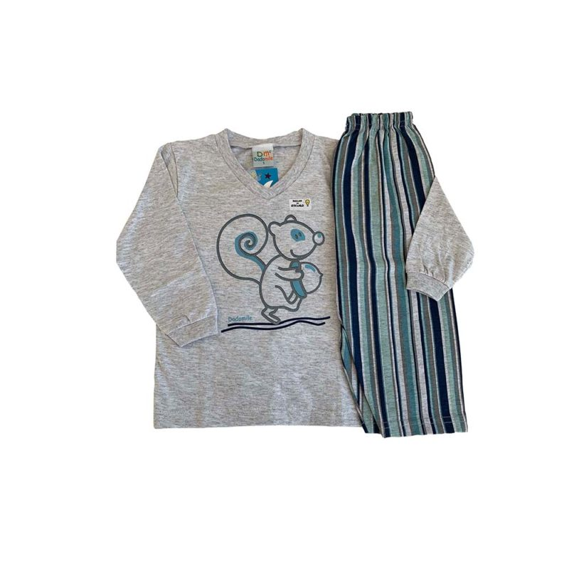 Pijama Infantil Meia Malha - Squirrel - Dadomile