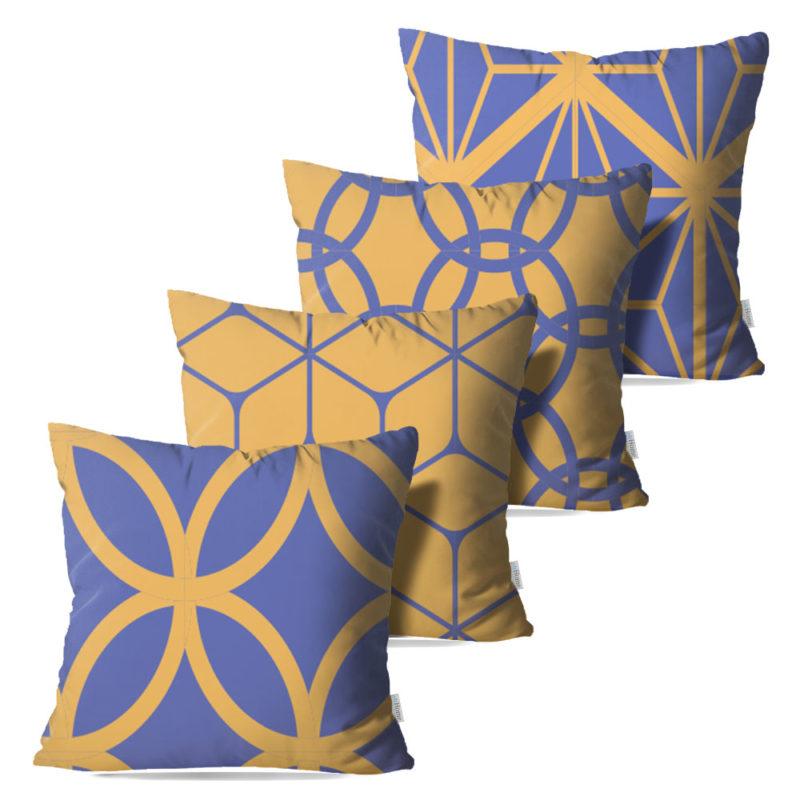 Kit: 4 Capas de Almofada Decorativas Mech - 45x45