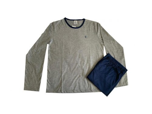 Pijama Masculino Adulto Inverno - Basic Grey em Malha Suave PV Confort - Serena