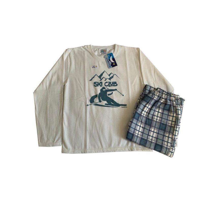 Pijama Infantil Moletinho - Ski Club - Dadomile