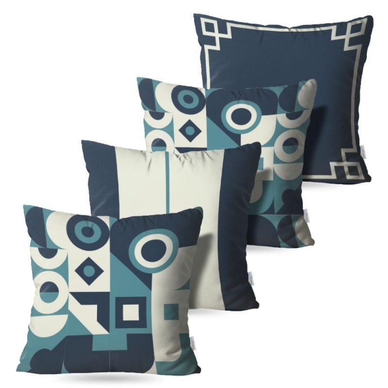 Kit: 4 Capas de Almofada Decorativas Geo Place - 45x45